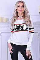 """Стильный женский свитшот """"1990"""" с длинным рукавом"""