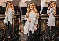 Костюм двойка брюки - костюмка, кофта- фактурный трикотаж- жаккард норма Мод 338 (AMBR)