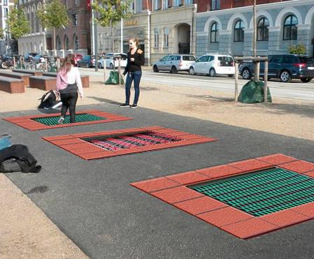 Батут уличный InGround для игровой площадки 180 x 180 см., фото 2