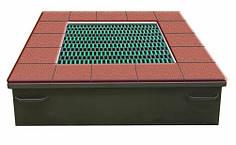 Батут квадратный InGround для игровой площадки 150 x 150 см.
