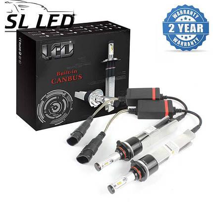 LED лампы в головной свет серии SLP7С Цоколь HB4, 9006, 29W, 3600 Люмен/Комплект, фото 2