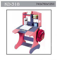 Детская парта трансформер Goodwin  KD-318 синий с розовым  киев