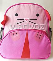 Детский рюкзак для дошкольника кот розовый