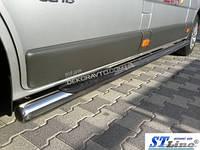 Пороги труба нерж. для Opel Vivaro /длинн.база /Ø60