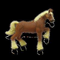 Объемный пазл Лошадь тяжеловоз коричневая 4D Master (26527), фото 1