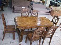 Производство мебели в беседку из массива состаренного дерева