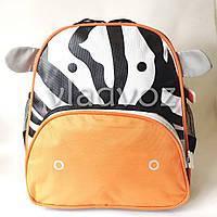 Детский рюкзак для дошкольника зебра полосатый оранж