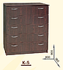 Комод К-5. Мебель для спальни, гостиной, детской, фото 2