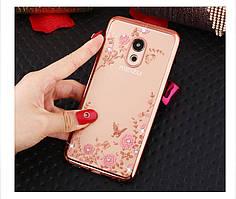 Чехол Luxury для Meizu M6 Ультратонкий Бампер Gold