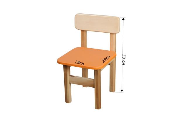 Детский  деревянный стул, оранжевый