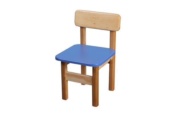 Детский  деревянный стул, синий