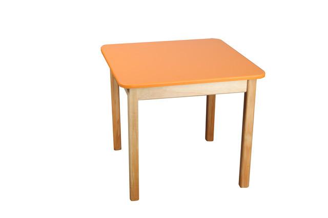 Детский  деревянный стол, оранжевый
