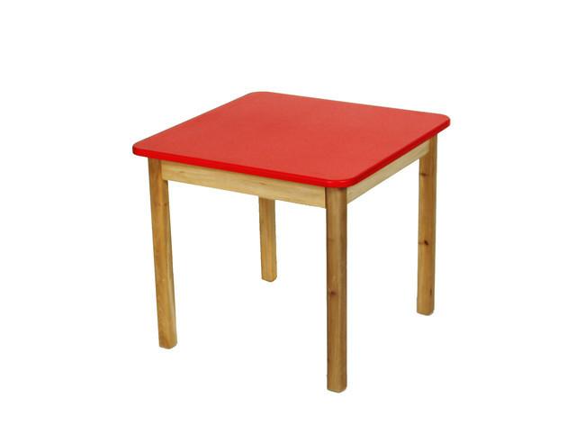 Детский деревянный стол, красный