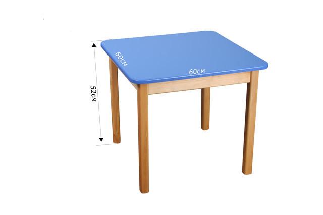 Детский деревянный стол,  синий