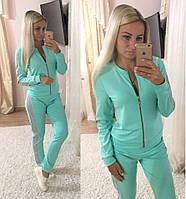 Женский яркий костюм: кофта и брюки (4 цвета), фото 1
