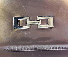 Клатч лаковый цвет коричневый, фото 2