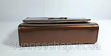 Клатч лаковый цвет коричневый, фото 3