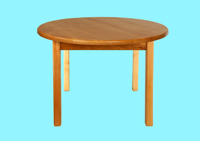 Детский деревянный стол  c круглой столешницой