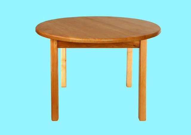 Детский деревянный стол  c круглой столешницой, фото 2