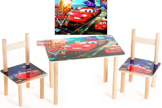 """Детский набор стол и 2 стульчика """"Тачки"""""""