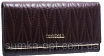 Шкіряні жіночі гаманці Cossroll 19*9 (каштан)