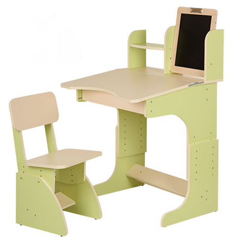 Детская парта с мольбертом растущая + стульчик, салатовая, фото 2