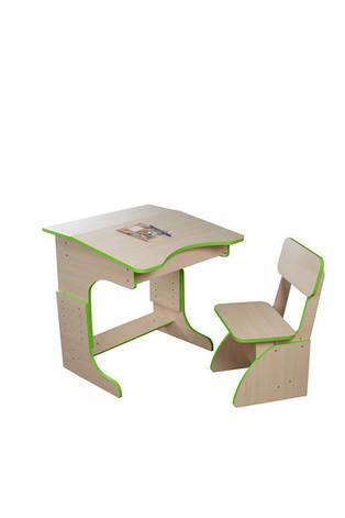 Еко детская парта растущая + стульчик, салатовая, фото 2