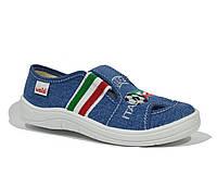 Текстильные тапочки для мальчика, WALDI джинс Италия, 24-30