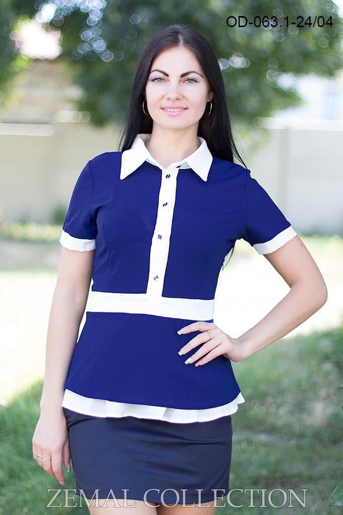 Женская блуза с баской 42р