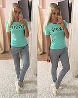 Женский яркий костюм: футболка и штаны (расцветки), фото 1
