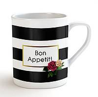 """Матовая кружка / чашка """"Bon Appetit!"""" Bordo"""