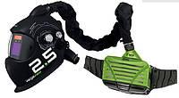 Автоматический сварочный шлем  FORCH (Германия) с системой защиты органов дыхания