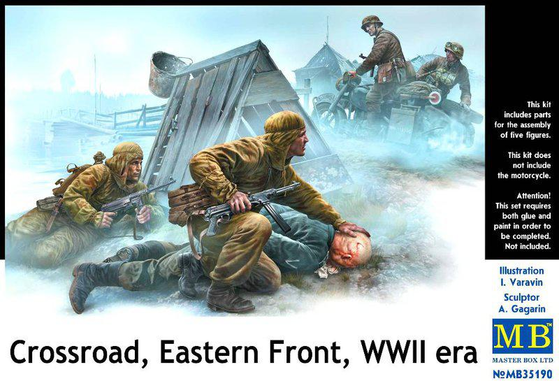 Перекресток, восточный фронт, 2МВ. 1/35 MASTER BOX 35190