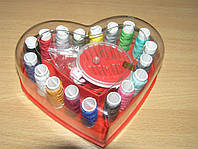 Швейный набор ниток в коробке Сердце