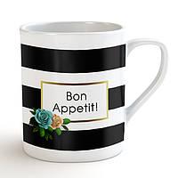 """Матовая кружка / чашка """"Bon Appetit!"""" Blue"""