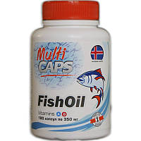 Рыбий жир из печени трески в капсулах, 350 мг