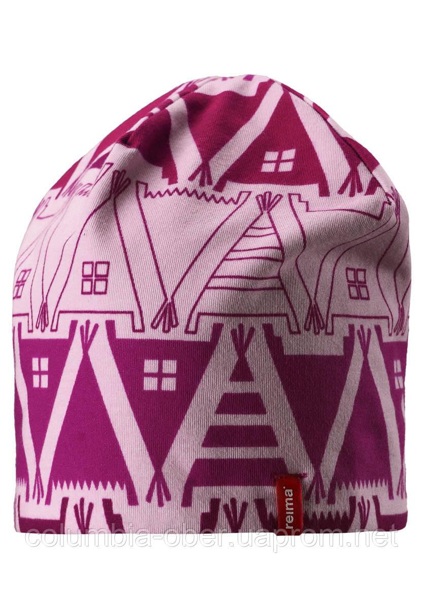 Демисезонная шапка для девочек Reima Hirvi 528539-4013. Размеры 50-56.