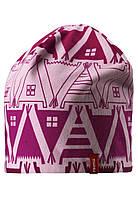 Демисезонная шапка для девочек Reima Hirvi 528539-4013. Размеры 50-56. , фото 1