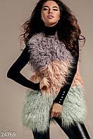 Жилет мех ламы Gepur 24769