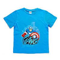 Детская футболка Avengers (Мстители) на мальчиков 4-8 лет (100% хлопок) ТМ ARDITEX AV11245 голубой