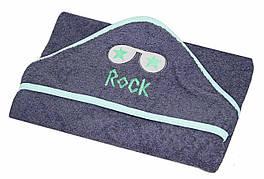 """Полотенце с капюшоном  """"Rock""""  махра 80*80 см"""