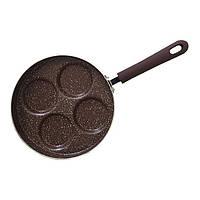 Сковорода для оладий и яичницы Fissman MOSSES STONE 26 см (Каменное антипригарное покрытие)