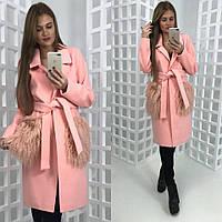 Кашемировое стильное женское пальто LAMA 7 цветов