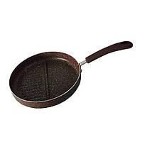 Сковорода-Гриль с разделением Fissman MOSSES STONE 26 см (Каменное антипригарное покрытие), фото 1