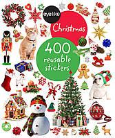 """Книга многоразовых наклеек-стикеров Рождество """"Christmas"""" 400 штук"""