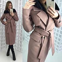 Стильное женское зимнее кашемировое пальто Амстердам