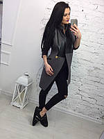 Стильное женское пальто-фрак 3 цвета
