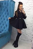 Стильное женское стеганное пальто-солнце