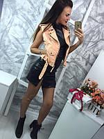 Модная женския кожанная жилетка 4 цвета