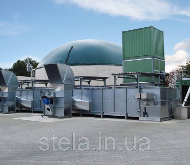 Стрічкова сушарка для відходів від виробництва біогазу